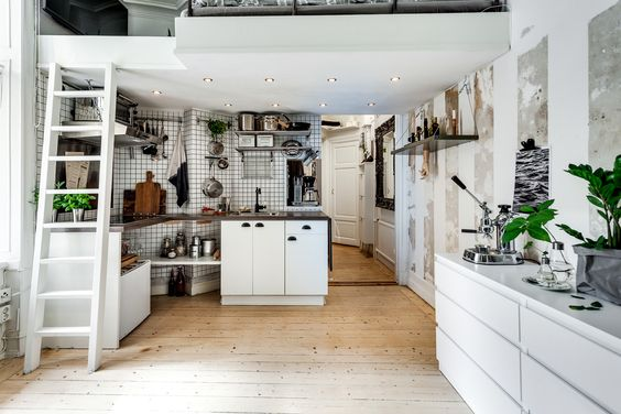 studio apartment loft bed. A cool tiny studio apartment with Chesterfield sofa and loft bed  STUDIO LOFT APARTMENT BLOG Pinterest Tiny apartments