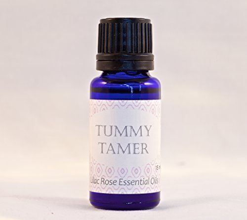 Lilac Rose Essential Oils Tummy Tamer ~ 100% Pure Therapeutic Grade ~ ORGANIC OR WILD CRAFTED, UNADULTERATED, BUY WITH CONFIDENCE 100% CUSTOMER SATISFACTION GUARANTEE OR YOUR MONEY BACK! Ingredients - Peppermint, Juniper Berry, Anise, Fennel, Ginger Root and Tarragon in a base of Wild Fractionated Coconut Oil., http://www.amazon.com/dp/B00SBUT9KI/ref=cm_sw_r_pi_awdm_6jNXub0DEB878