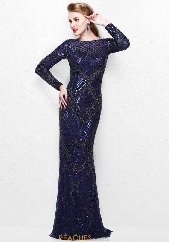 Primavera Long Beaded Dress 1737 - 2017 Primavera Dresses ...