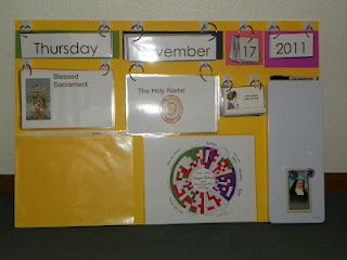Catholic Morning Board from Catholic Mom's Journey: Fun daily homeschool organizational tools