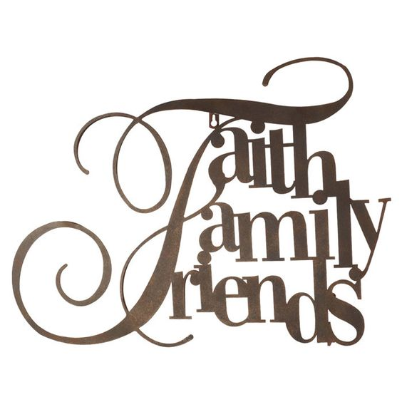 Family Friends Wall Decor : Faith family friends wall decor ideas for my future home