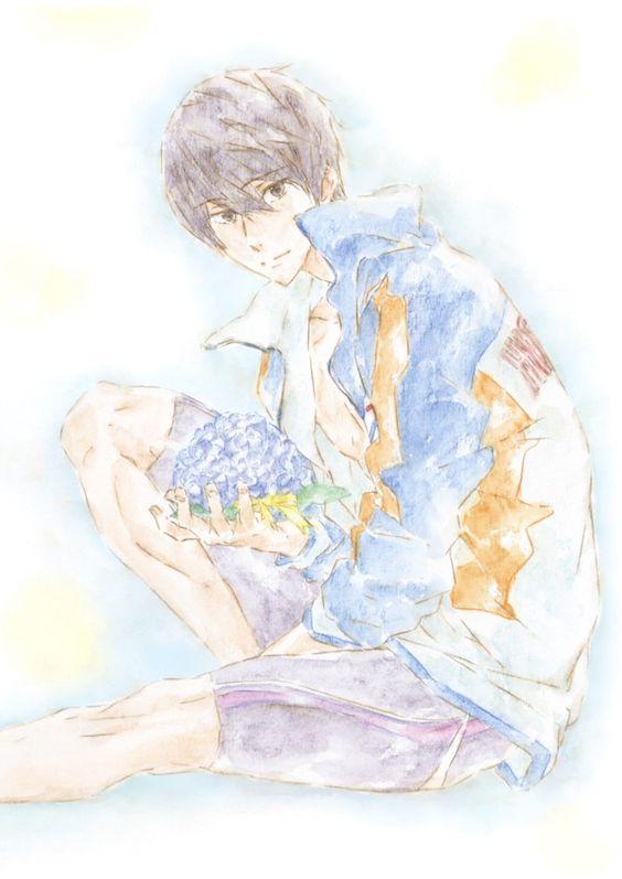 紫陽花と七瀬遙