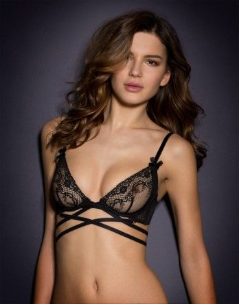This would look great under a semi-sheer blouse.   Agent Provocateur - Sandra Bra