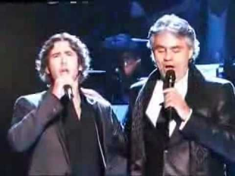 The Prayer - Andrea Bocelli & Josh Groban. Really great live performance by the two of them. It is an interesting contrast with the duet Josh did with Charlotte Church with the same song.