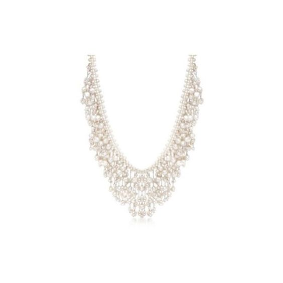 Ross-Simons 4-7.5mm Cultured Pearl Fringe Necklace With Sterling... ($195) ❤ liked on Polyvore featuring jewelry, necklaces, silver, freshwater cultured pearl necklace, fringe necklaces, freshwater pearl jewelry, tassle necklace and ross simons jewelry