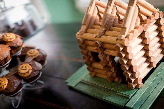 Lincoln Logs - table decoration for Abe Lincoln birthday party theme