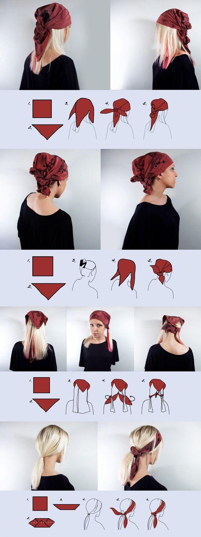 Conseils de mode et coiffure comment enrouler un foulard sur la tête avec style avec les cheveux longs ou les cheveux courts à l'africaine ou orientale.