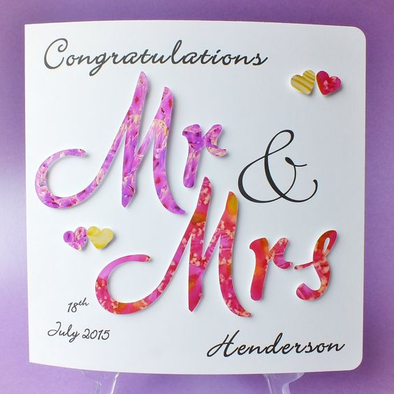 Wedding Day Images With Name: Wedding Day Cards, Wedding Congratulations And Wedding Day