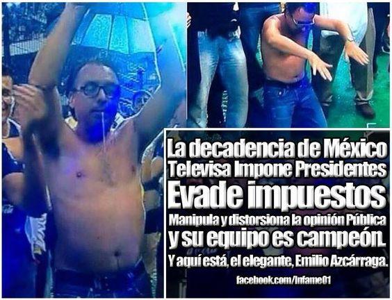 decadencia mexicana: Monarca babeante y alcoholizado
