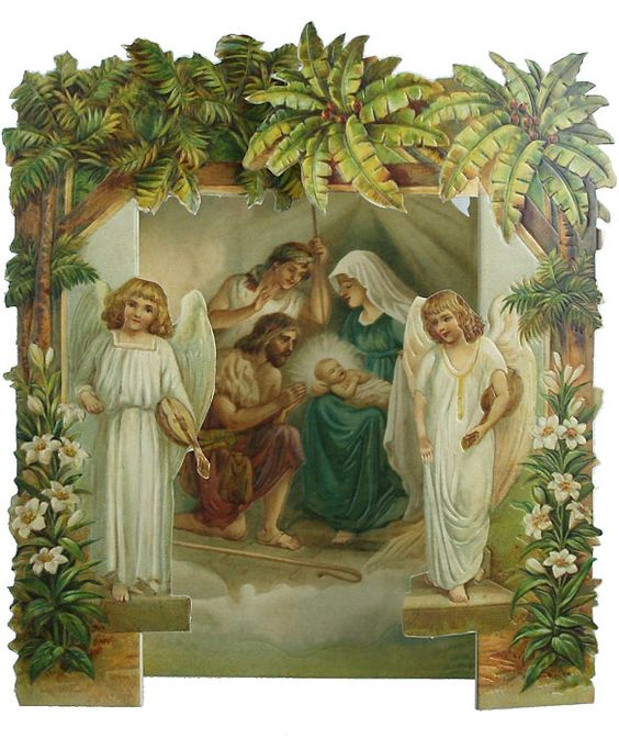 Victorian Nativity Christmas Card | Zazzle