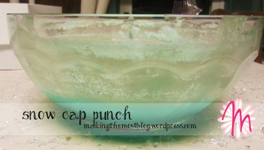 Disney Frozen Birthday: Snow Cap Punch | Making the Most