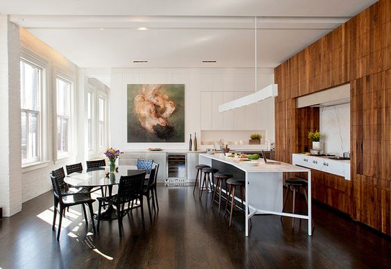 Terrific masculine kitchen design in this Manhattan loft by Architecture Outfit.