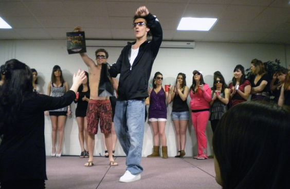 Ronnie, Pauly D and Snooki Look-a-likes at  the Fisher College Jersey Shore Look-a-Like contest.   - Fisher College -