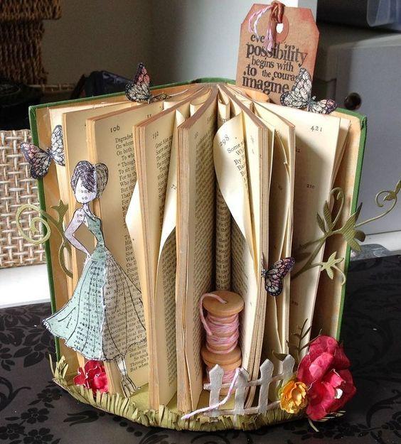 Pin by Belinda Ottaway on crafty stuff | Old book crafts