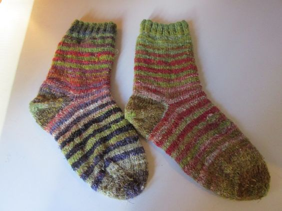 Hand Knitted Socks Women's  Size 7 1/2 Noro Yarn Women's Gift Wool Socks by SpruceCottageKnits on Etsy