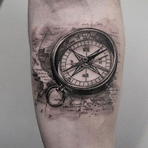 Realistic Compass Tattoo Designs For Guys Best Compass Tattoos For Men Cool Compass Tattoo Designs Compass Tattoo Design Compass Tattoo Men Tattoos For Guys