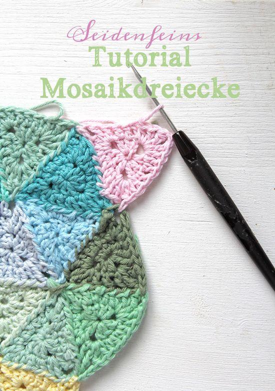 Tutorial Kleine Dreiecke Hakeln Tutorial Crocheting Triangles Https Seidenfein Blogspot De 2018 05 Hakeln K Dreieck Hakeln Hakeln Muster Babydecke Hakeln