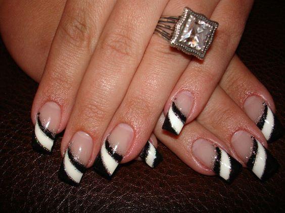 Black and white diagonal