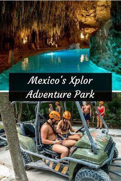 este es un lugar que se llama en el parque de aventura Xplor . esta se encuentra en Playa del Carmen , México . se puede navegar por encima de árboles . También se puede nadar en los ríos subterráneos .
