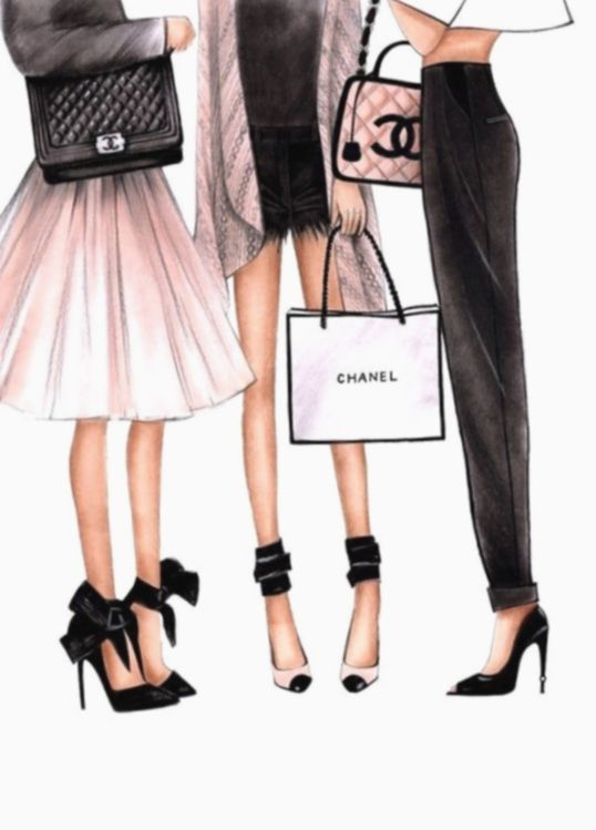 Fashion Art Illustration Blonde Usa India Instgram Fashion Illustration Chanel Fashion Wall Art Chanel Art Print