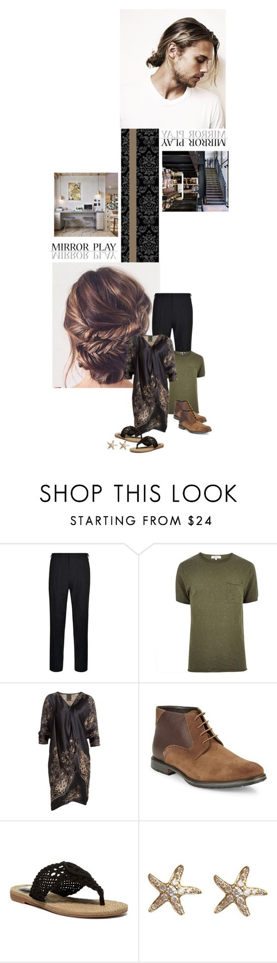 """""""Male and female energy"""" by redheadlass ❤ liked on Polyvore featuring DKNY, River Island, Anna Sui, BLACK BROWN 1826, MIA and Annoushka"""