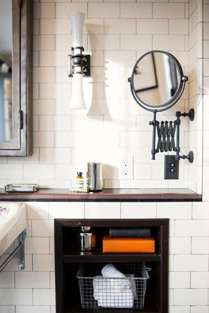 Industrial chic bathroom :deirdre doherty interiors | interior design | los angeles