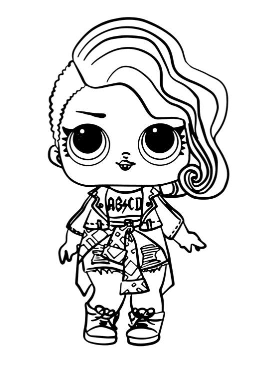 раскраски куклы Lol кукла лол рокерша 1 серия