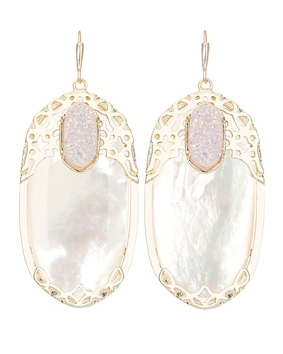 Deva Statement Earrings In Ivory Pearl Kendra Scott Jewelry The Trendsetter Pinterest