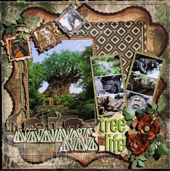 Tree of Life Animal Page...or you could substitute photos for the animal pictures.