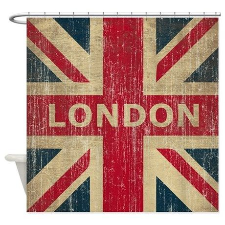 Vintage London Shower Curtain By Teyes Cafepress Vintage London London Flag Uk Flag