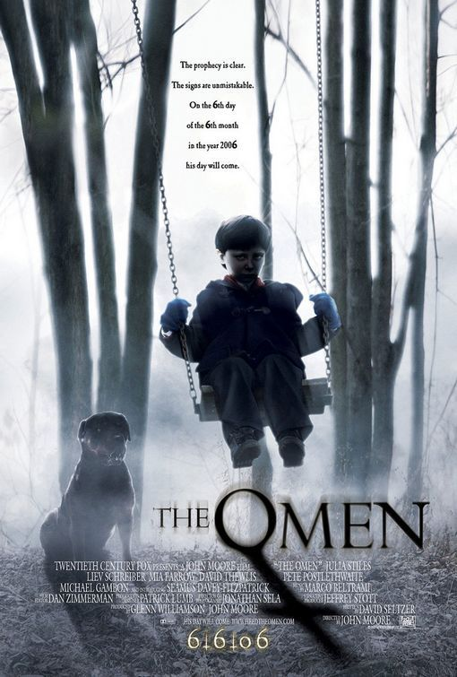 "The Omen Movie Poster  Alternate designs (click on thumbnails for larger version)  The Omen (2006) 	   tagline: ""From the eternal sea he rises. Creating armies on either shore. Turning man against his brothers. Until man exists no more."""