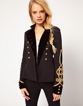 Denim & Supply By Ralph Lauren - Veste style militaire inspirée du Défilé Balmain...A mixer avec une robe courte!