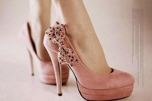#shoes, #shoes: Pink Heels, Pink Bows, Sparkly Bow, High Heels, Pink Shoes, Shoes Shoes, Bow Heels