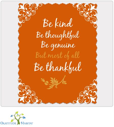 Gratitude Habitat | Be Thankful Print