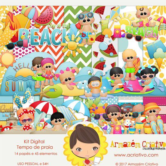 🌟{Lançamento}🌟 Kit digital Tempo de Praia Clique para comprar >> goo.gl/20MuPi