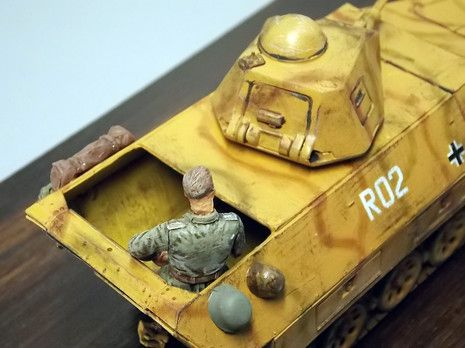 Ein Stück war nach oben hin offen und bot so der Besatzung noch die Möglichkeit aus dem Kampfraum zu agieren.