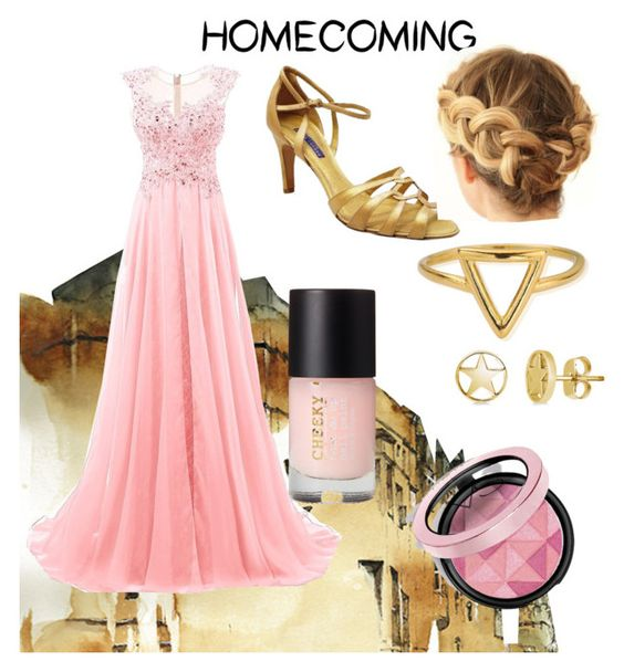 """""""Pink and gold"""" by lillyofthesky ❤ liked on Polyvore featuring Ralph Lauren, ChloBo and BERRICLE"""