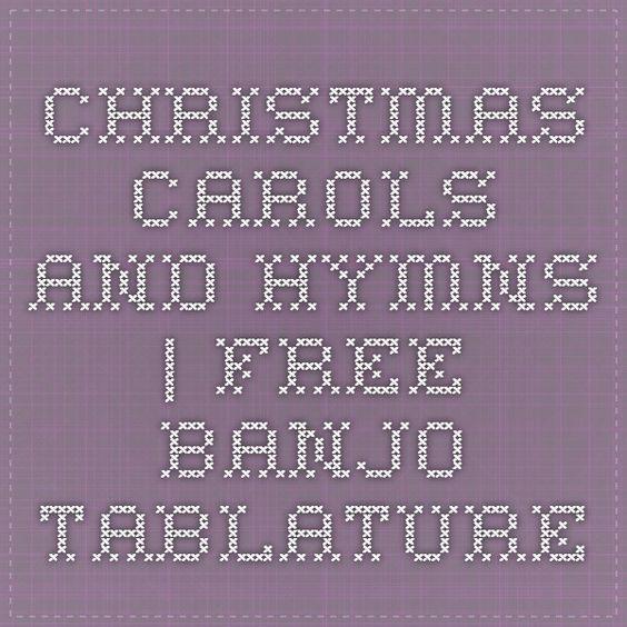 Tablature, Christmas carol and Banjos on Pinterest