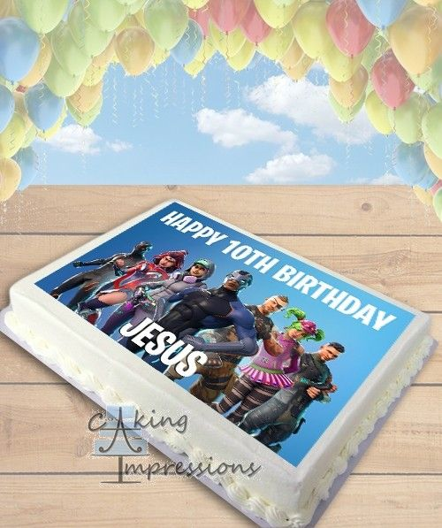 image regarding Printable Edible Cake Toppers named Fortnite Period 4 Edible Frosting Graphic Cake Topper [SHEET