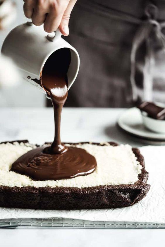 chocolate coconut brownies ❥