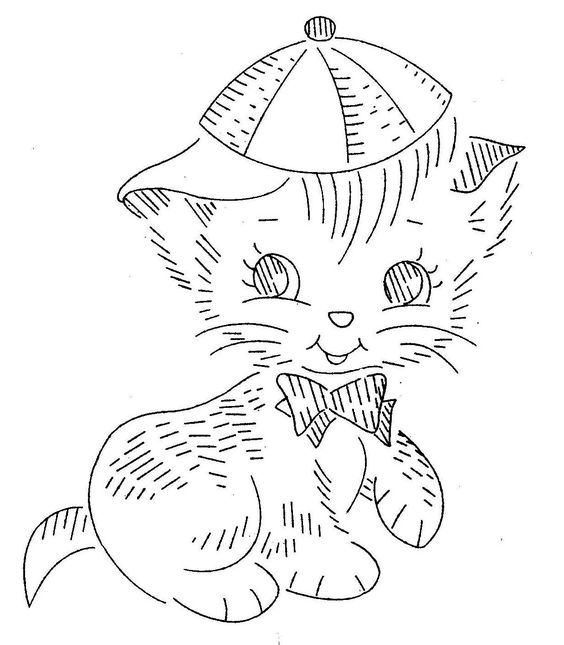 Vintage Hand Embroidery Pattern PDF File Design by BlondiesSpot