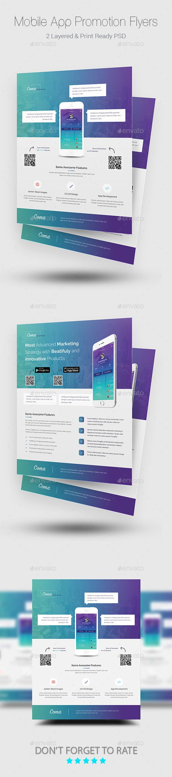 promotional brochure template - mobile app promotion flyer templates mobile app flyer