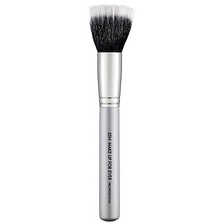 #PROtip: Whether crème or powder blush, sweep tints of color onto the apples of the cheek with this brush for a youthful flush. MAKE UP FOR EVER HD Blush Brush #55N #Sephora