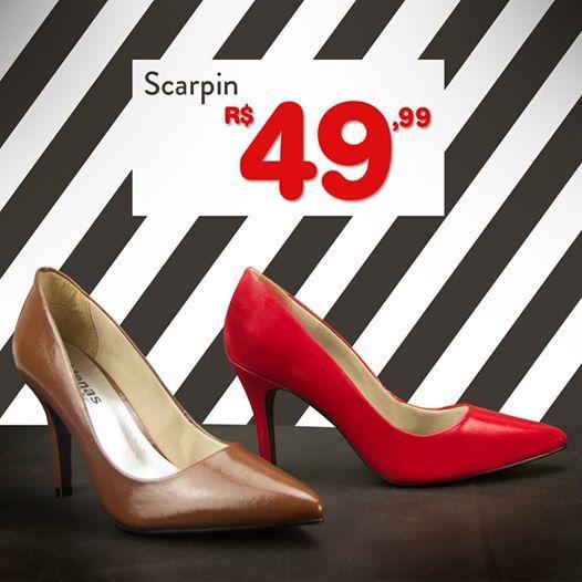 Scarpin de 70,00 por apenas R$49,99 COMPRE ONLINE!