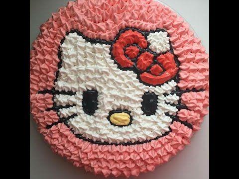 Cara Menghias Kue Doraemon Doraemon Cake With Buttercream Youtube Hello Kitty Birthday Cake Hello Kitty Cupcakes Kue Hello Kitty