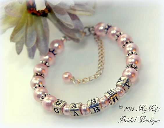 little s girl bracelet weddings heart swarovski crystal charm