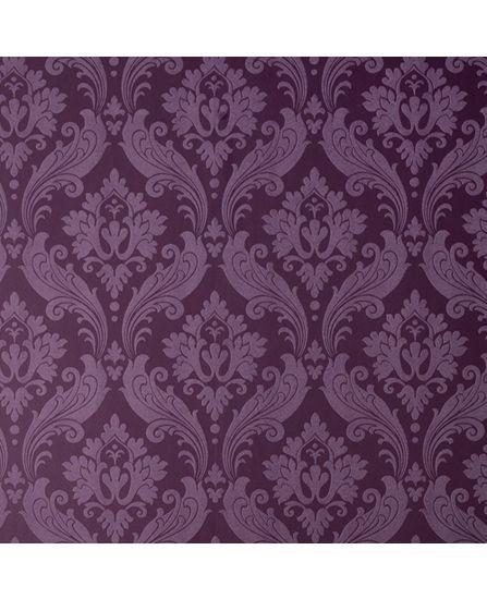 Purple Damask Wallpaper For The Home Pinterest