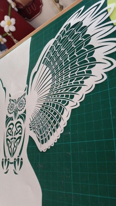 #owl #papercut #a3 #papercraft coming soon www.etsy.com/shop/daisyjaynehandmade