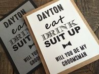 Eat, Drink and Suit Up Groomsman Invitation, Will You Be My Groomsman, Invitation