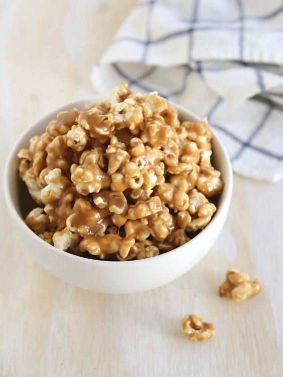 Soft and Gooey Caramel Corn from completelydelicious.com